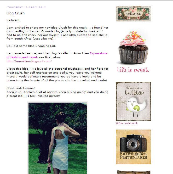Arum Lilea is a Blog Crush