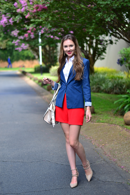 blue tailored bershka blazer