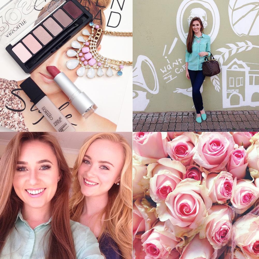 sister selfie and roses