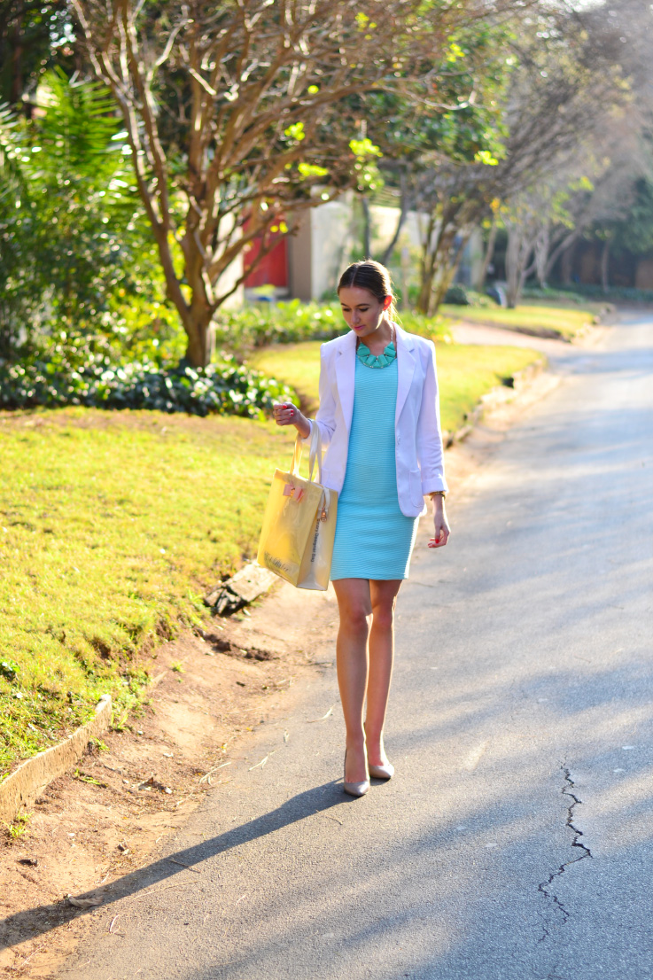 turquoise and white