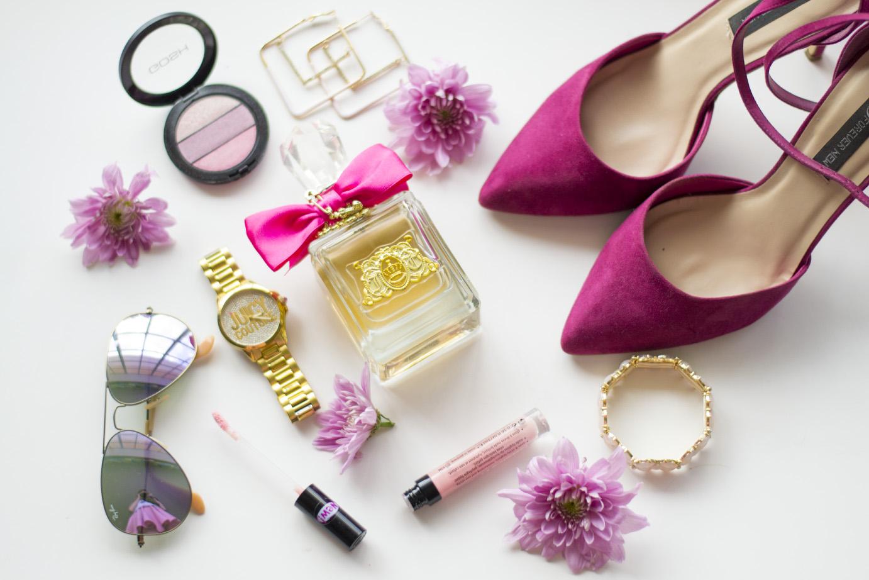 juicy couture - gold watch - ray ban - aviators - forever new shoes - lovisa - gosh cosmetics - blush - essence - lipgloss