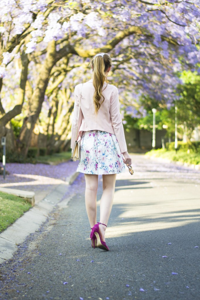 Floral Dress and Jacarandas