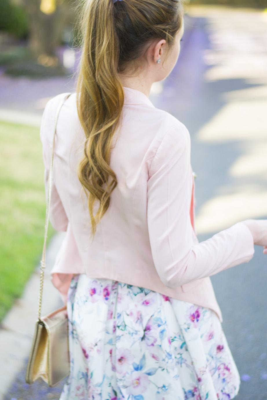 zara blazer - ponytail