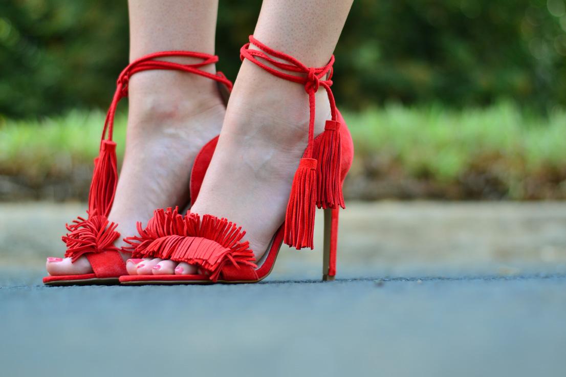 river island - fringe - heels