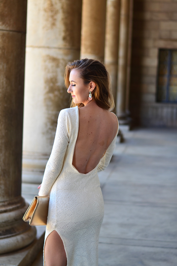 YDE - backless dress