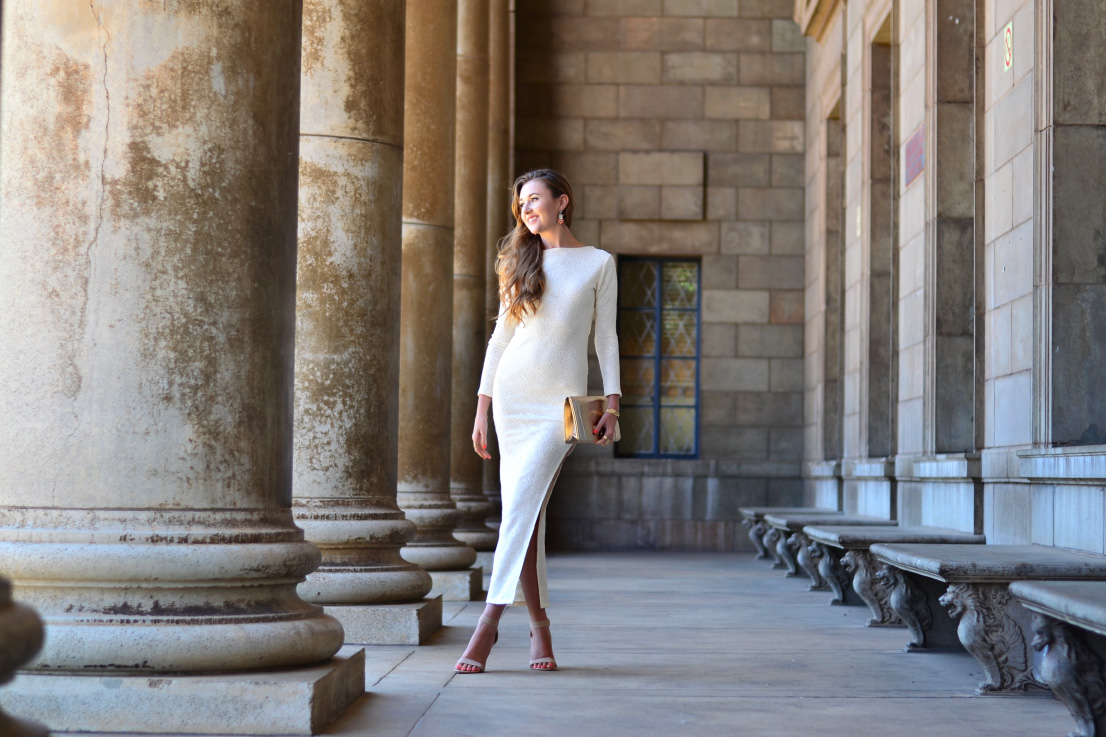 x&O - YDE - dress - Forever New - clutch - gold - bracelet - river island - zoom footwear - heels