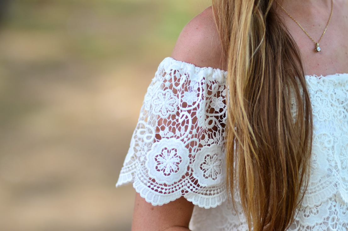 crochet - off the shoulder - forever new - top