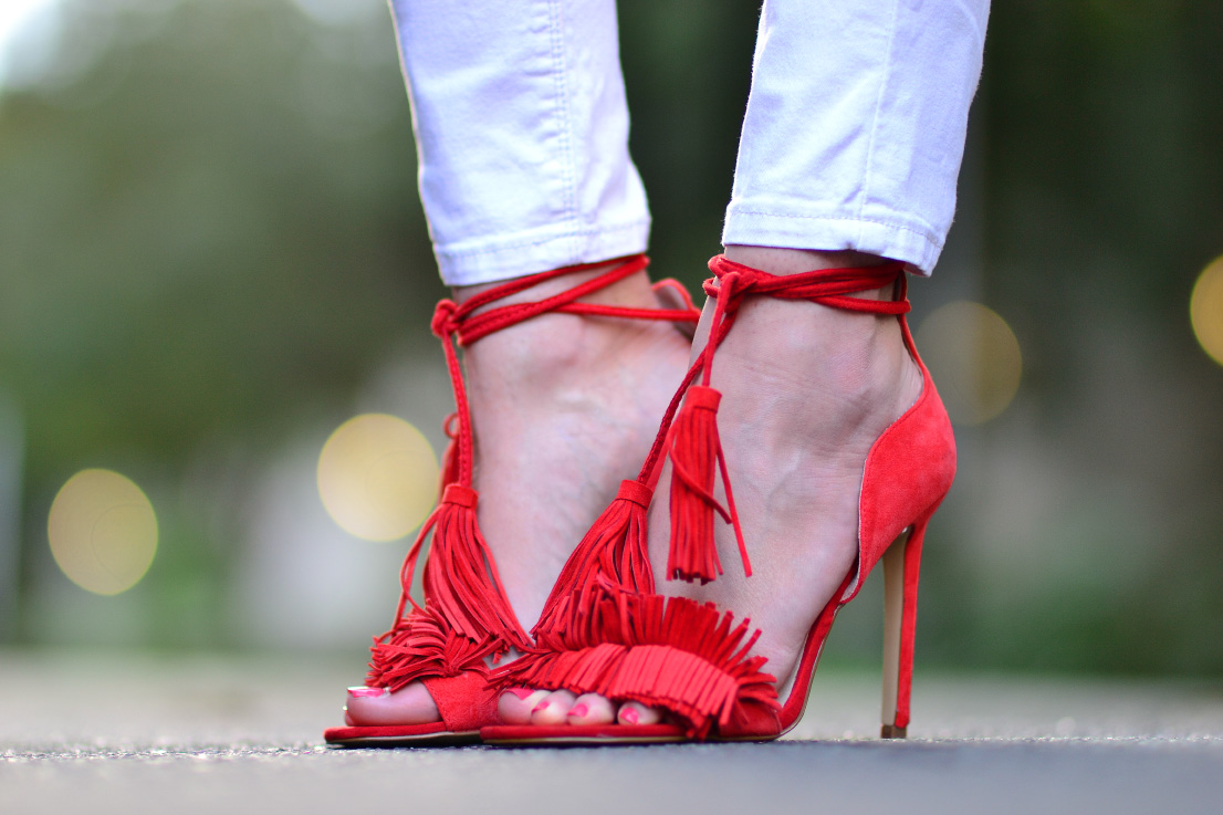 river island - fringe - heels - shoes