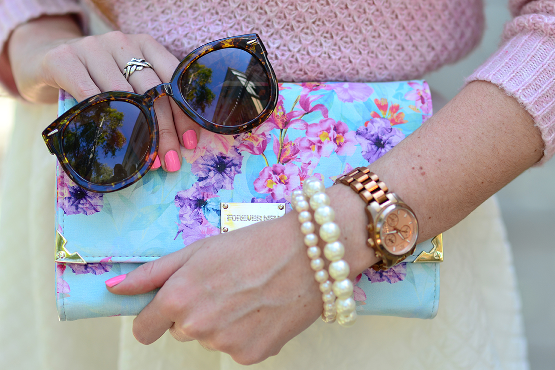 Arum Lilea - Forever New travel purse - Michael Kors watch - Topshop sunglasses