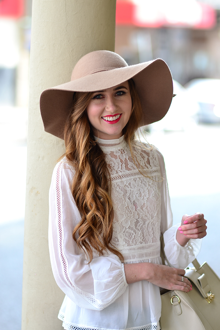 Arum Lilea - Forever New lace blouse - Cotton On hat