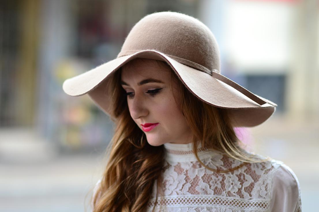 cotton on felt hat