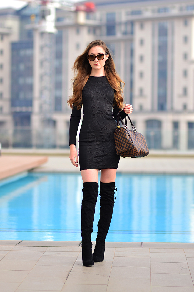 How to style over-the-knee boots - Arum Lilea