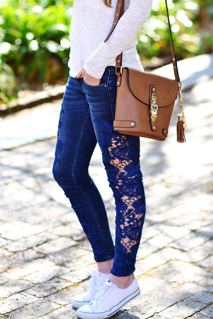 sissy boy jeans - lace