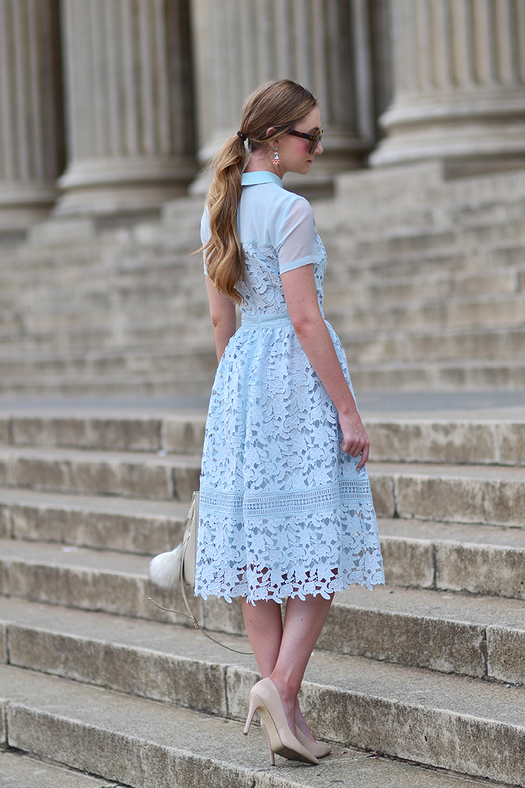 ASOS Warehouse Lace Collar Dress