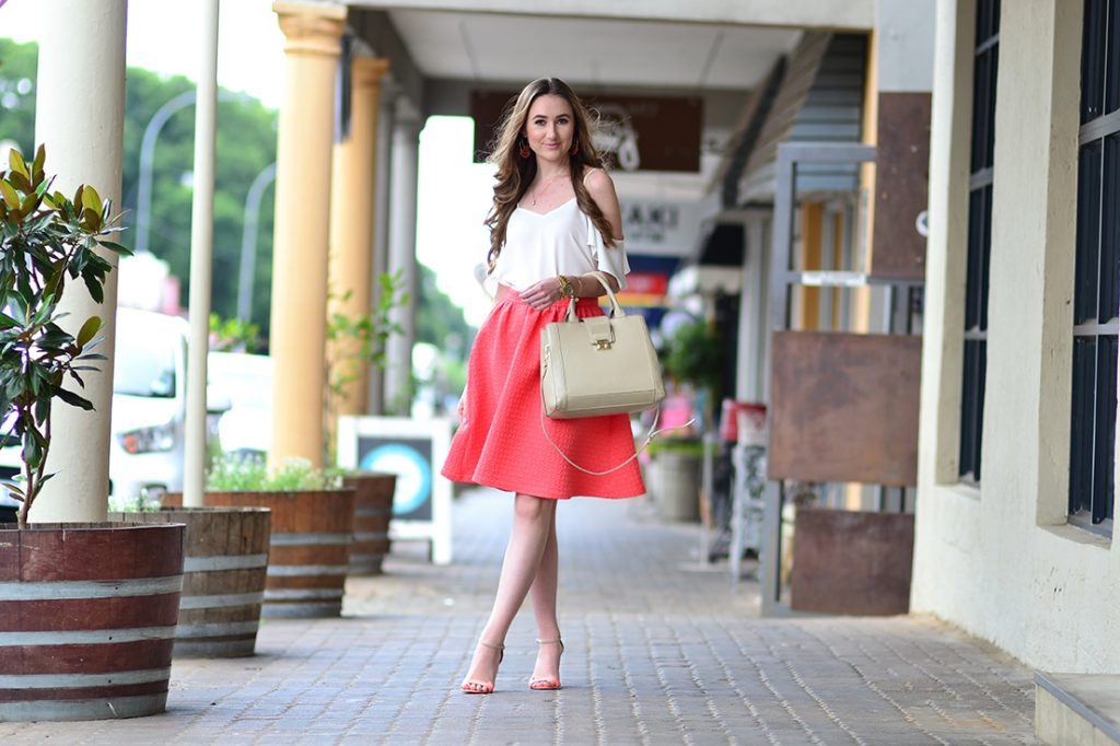 Cold-Shoulder top and Midi skirt