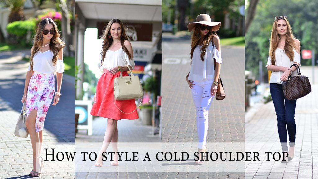 Four ways to style a cold shoulder top