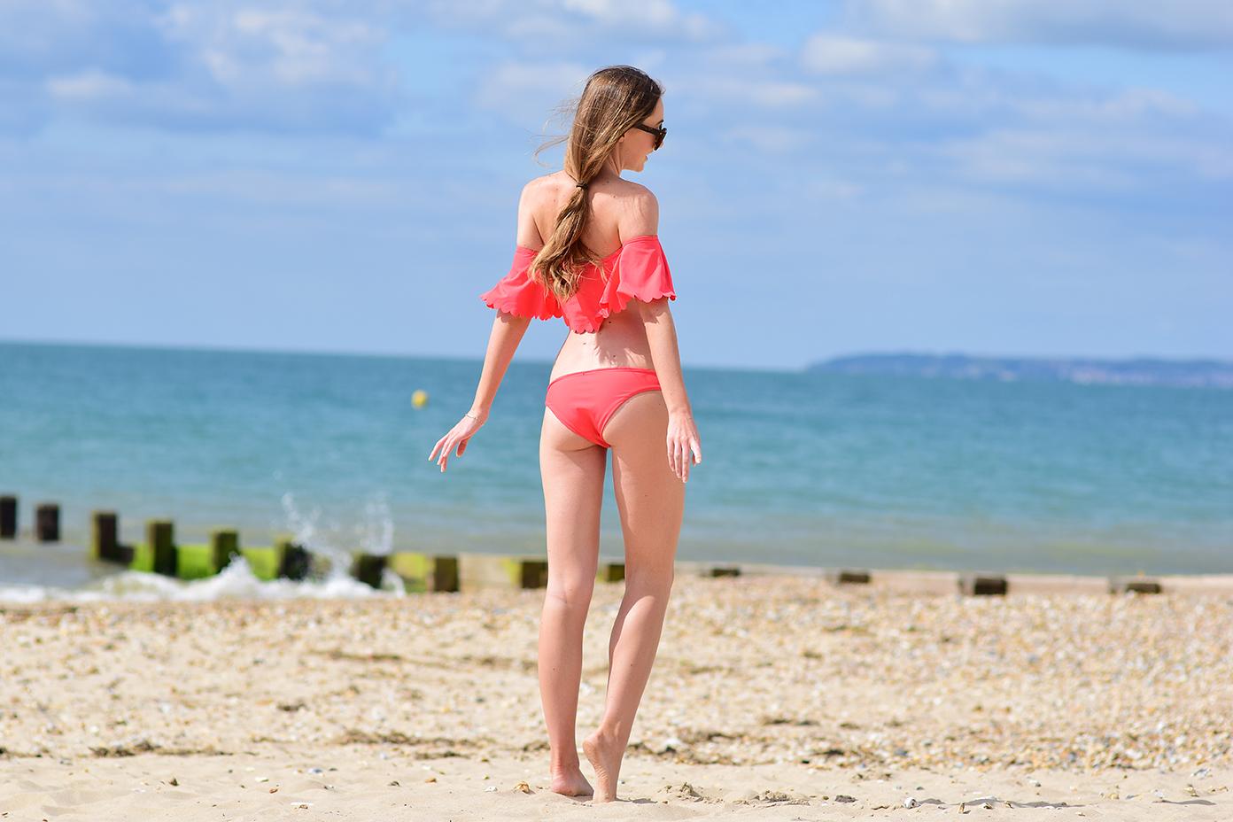 off the shoulder bikini