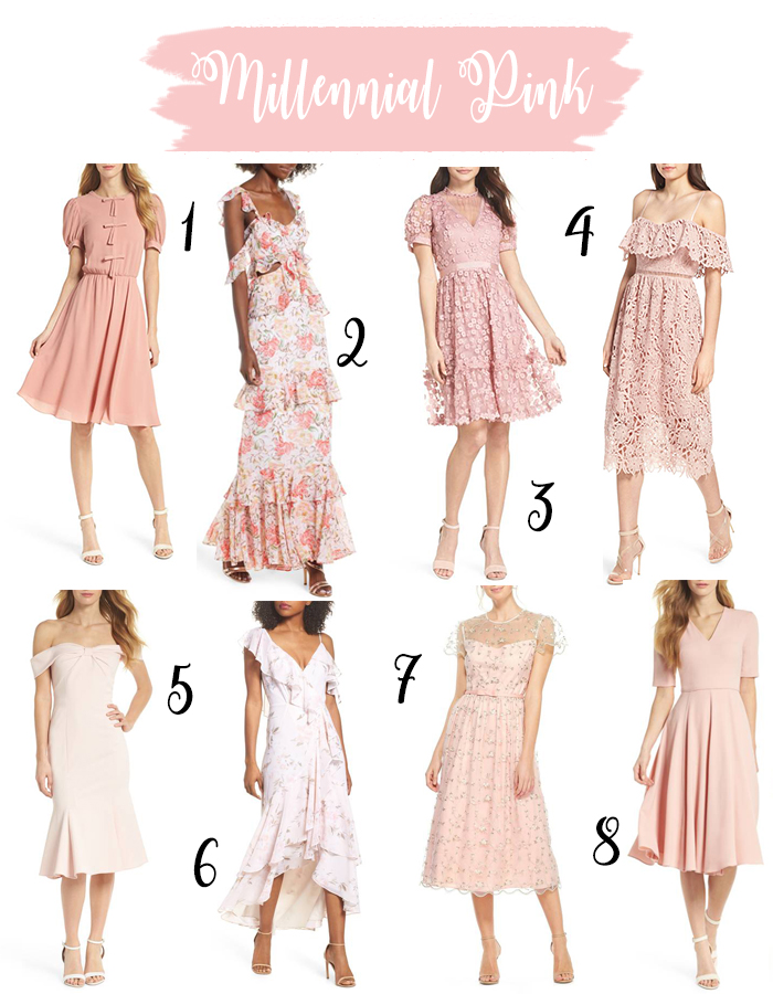 Millennial pink dresses for every occasion