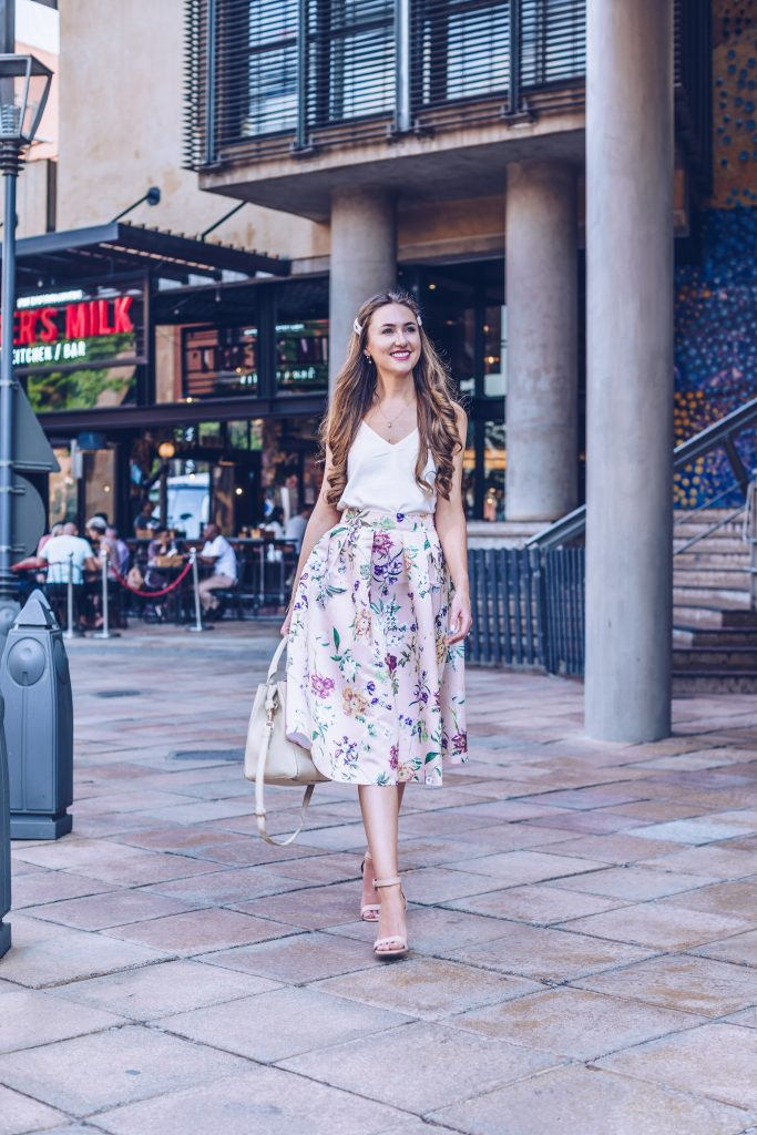 My undying love for a floral midi skirt