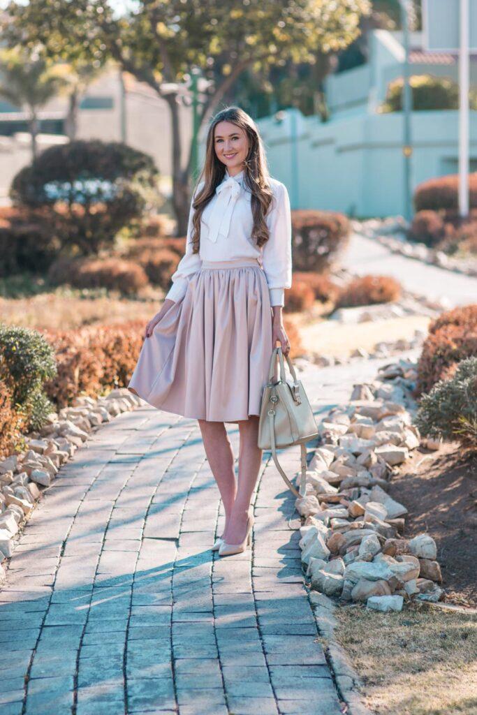 Elegant Winter Wear Brigitte Midi Skirt